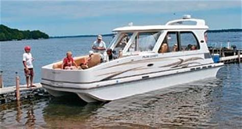 pontoon boats sleeping quarters a new category of boat pontoon deck boat magazine