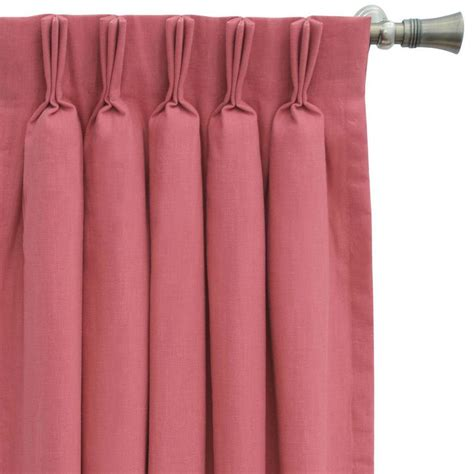pleated curtain panels pleated rosy pink curtain panel
