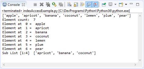 tutorial python list python lists tutorial