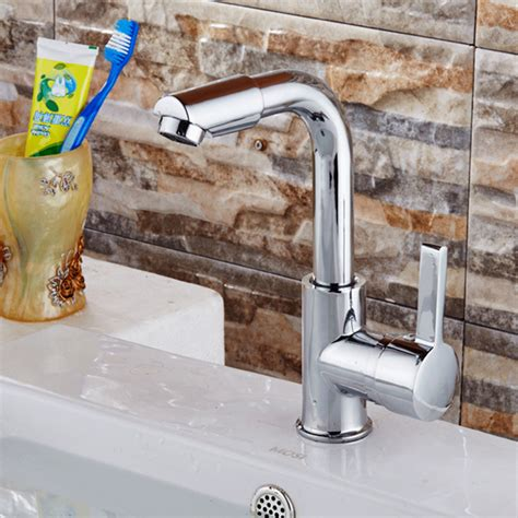 No Cold Water In Kitchen Sink 360 Degree Rorating Stainless Steel Chrome Bathroom Basin Sink Faucet And Cold Water Taps