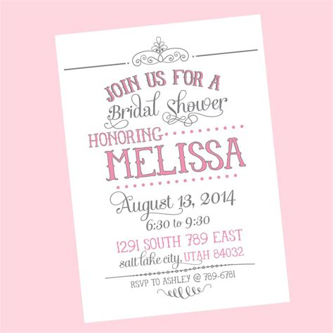 free sles of bridal shower invitations wedding shower invitations wedding shower invitations