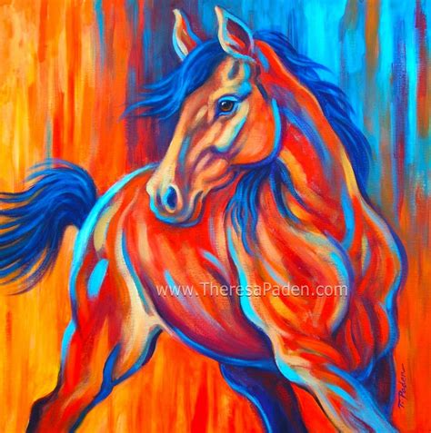 colorful horses abstract horses