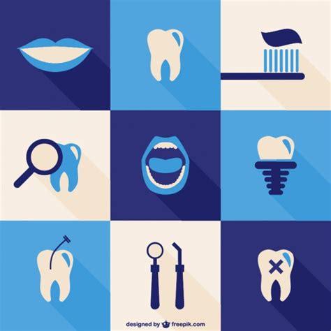 imagenes odontologicas animadas dental icons set vector free download