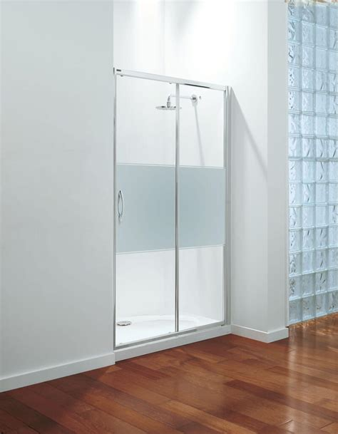Coram Shower Doors Coram Premier Sliding Door Shower Enclosure 1000mm Modesty Glass