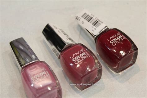3 lakme color crush nail paint photos indian makeup and