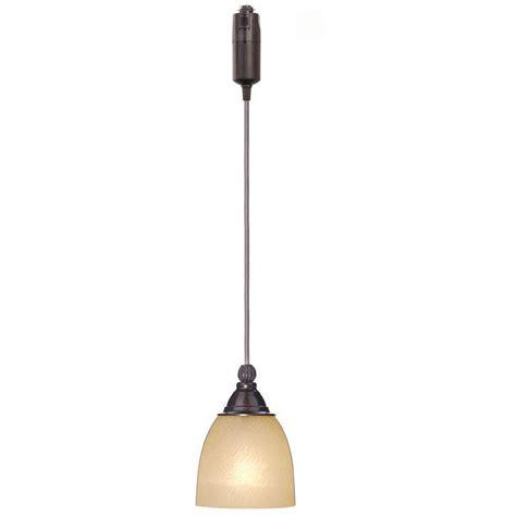 hampton bay  light antique bronze linear track lighting pendant  optional direct wire