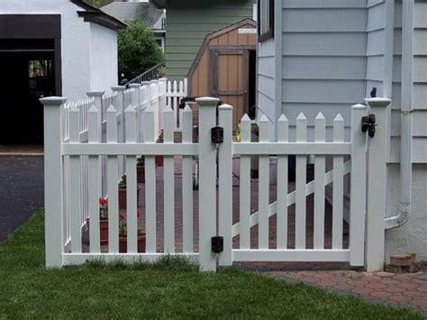 white pvc vinyl picket fence design backyard fences