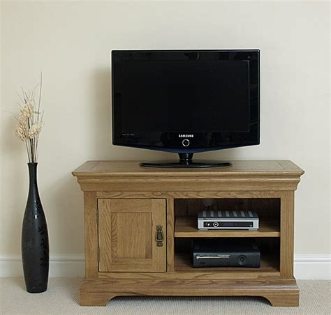Small Tv Cabinet by Rustic Solid Oak Small Tv Dvd Hi Fi Cabinet