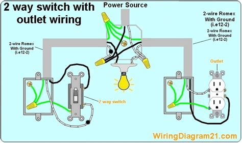 outlet light switch wiring diagram how to wire a