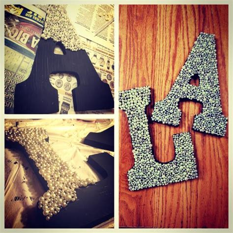 Letter Decoration Ideas Pearl Decorated Room Letters Crafts Initials Glitter And Sorority