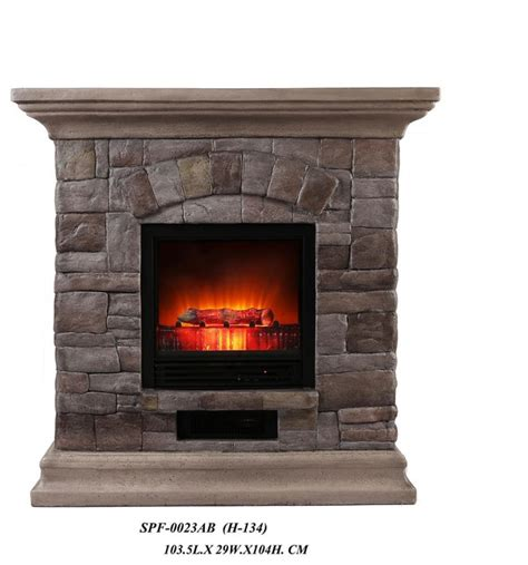 faux portable fireplace large rustic tabletop