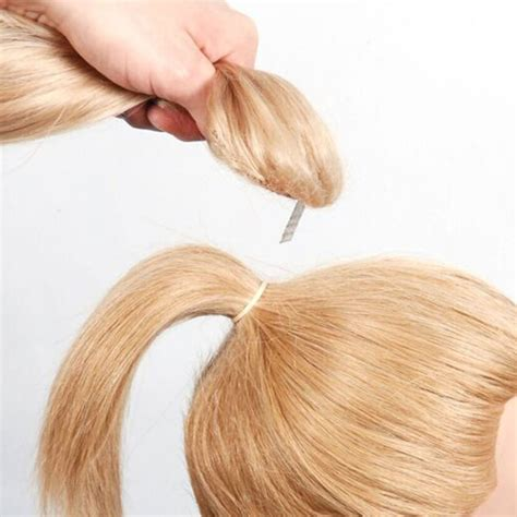 drawstring weaves before and after hair extension ponytail clips styling hair extensions