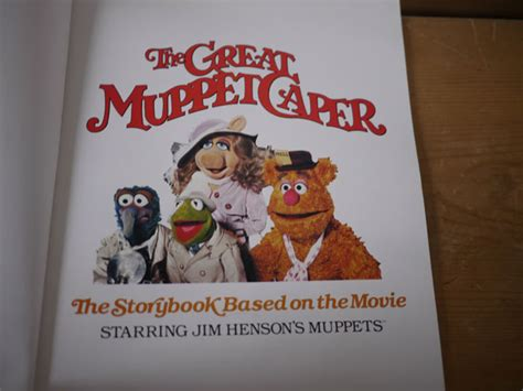 the great dictionary caper books vintage 1981 the great muppet caper story book