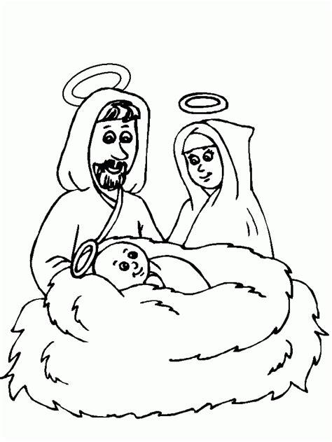 imagenes de jesus jose y maria para colorear dibujo para colorear jes 250 s maria y jos 233 01