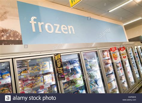 frozen food section frozen food section in morrisons supermarket england uk