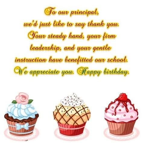 Happy Birthday Wishes To Principal Top 65 Birthday Wishes And Greetings For Principal