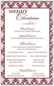 In cleveland italian christmas dinner menu red damask menu design