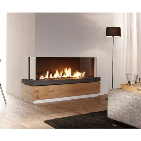 lineafire fireplaces corner 150 left wood and gas