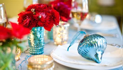 Teal and Red Holiday Decor  Featured   Virginia Wedding