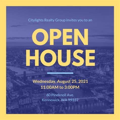 open house invitations open house invitation templates canva