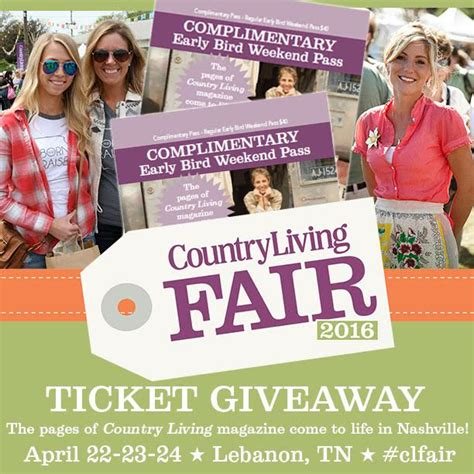 Country Living Giveaways - giveaway country living fair tickets tilly s nest