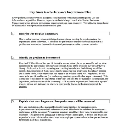 Performance Improvement Plan Template 14 Download Documents In Pdf Word Employee Performance Improvement Plan Template