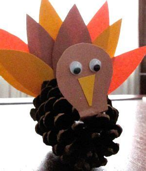 pinecone turkey craft sweet and simple thanksgiving craft pine cone turkeys