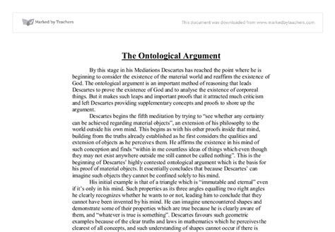 Ontological Argument Anselm Essay by Ontological Argument For The Existence Of God Essay Pdfeports178 Web Fc2