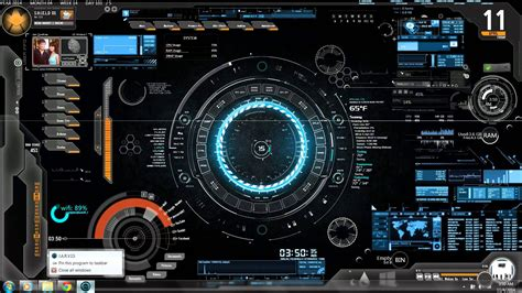 jarvis theme for windows 7 rainmeter my jarvis rainmeter theme youtube