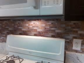 Kitchen Backsplash Stick On by Backsplash Peel And Stick Mosaic Wall Tile Installation