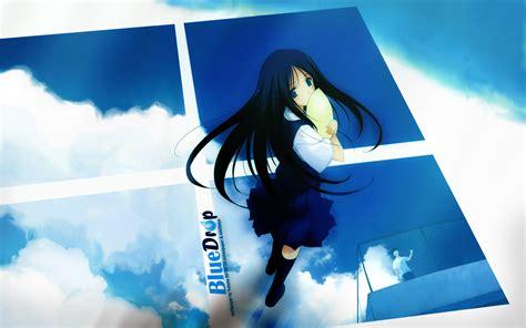 wallpaper blue anime anime blue sky wallpaper 274165