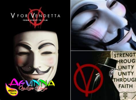 Topeng V For Vendetta Mask Anonymous Vendetta Fawkes Topeng topeng anonymous cool white