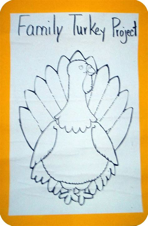 turkey disguise project template best photos of family turkey project printable template
