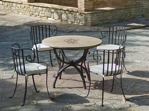 tavoli da giardino in pietra tavoli da giardino in ferro battuto e pietra mobilia la