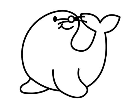 imagenes para colorear foca dibujo de foca alegre para colorear drawings and