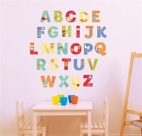 Alphabet Wall Decals For Nursery A Is For Alphabet Nursery Wall Decals Classroom Ideas