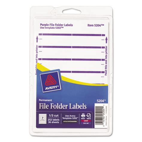 ave05204 avery print or write file folder labels zuma