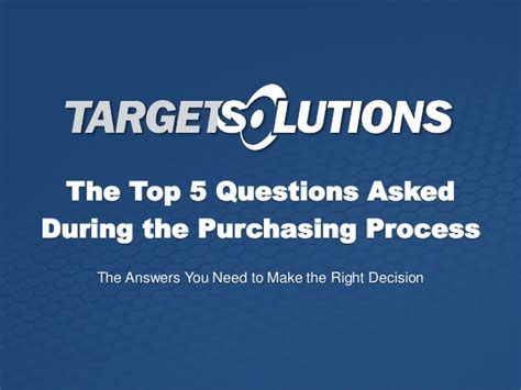 top 5 questions asked during the purchasing process