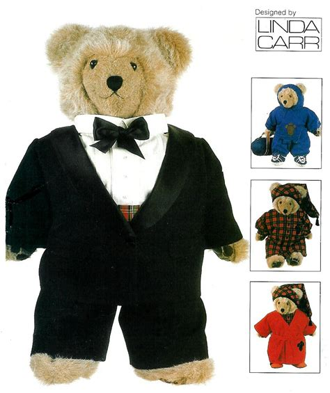 pictures of teddy bears in tuxedos vogue sewing pattern teddy bear clothing 23 quot tuxedo