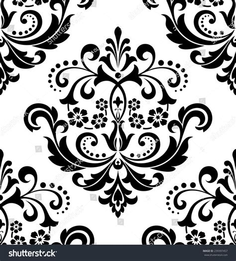 black and white royal wallpaper damask seamless floral pattern royal wallpaper stock