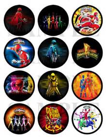 power rangers printable cupcake toppers stickers 4 00 etsy parties