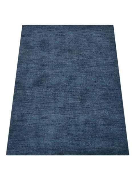 Solid Navy Area Rug Buy Solid Lori Knotted Woolen Navy Blue Area Rug L00111 Getmyrugs