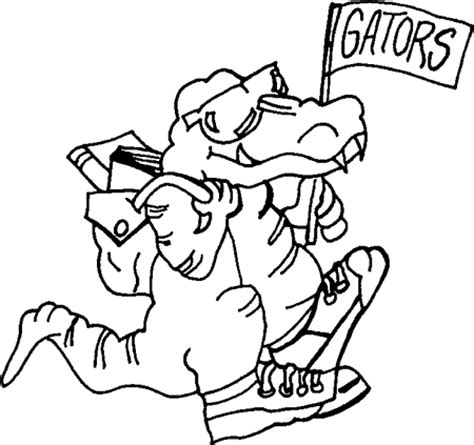 uf gator coloring pages coloring pages