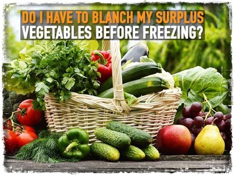 Freezing Garden Vegetables Do I To Blanch My Surplus Vegetables Before Freezing