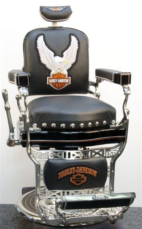 Koken Barber Chair For Sale by Restored Koken Barber Chair In Harley Davidson Motif