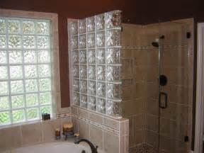 Shower Stall Ideas For A Small Bathroom glass block walls in houston houston glass block