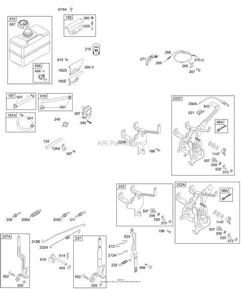 briggs and stratton fuel diagram briggs and stratton 192417 1203 e1 parts diagram for