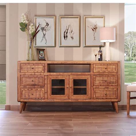 retro media cabinet light wood horizon home furniture