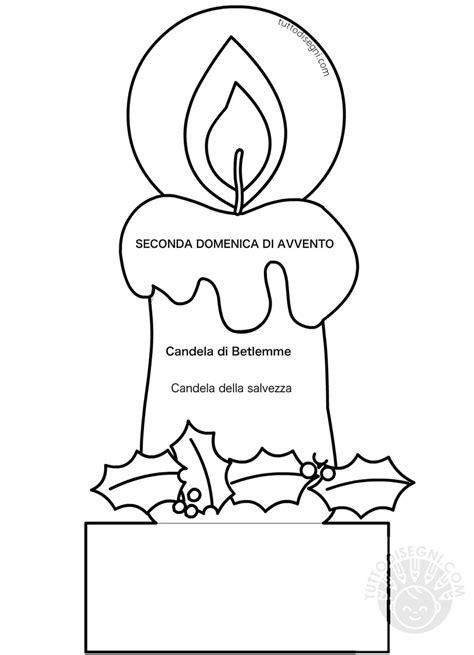 disegni candele candela seconda domenica di avvento tuttodisegni