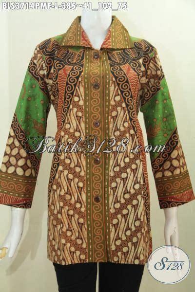 desain baju batik pria elegan baju kerja batik terbaru untuk wanita karir blus batik